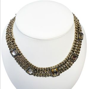 3/30 Deal !! Necklace with square faux stones